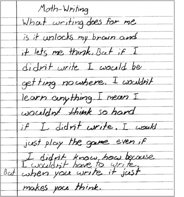 the importance of writing in the math journal The importance of teaching handwriting and mathematics as well as writing for children with writing and reading difficulties journal of.